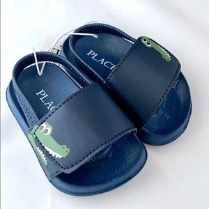 Children's Place Navy Crocodile Sandal